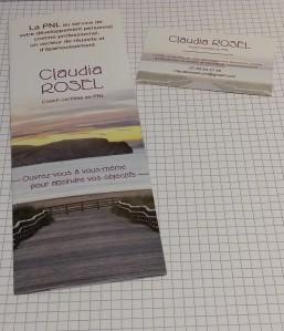 Plaquette format marque-pages et carte de visite